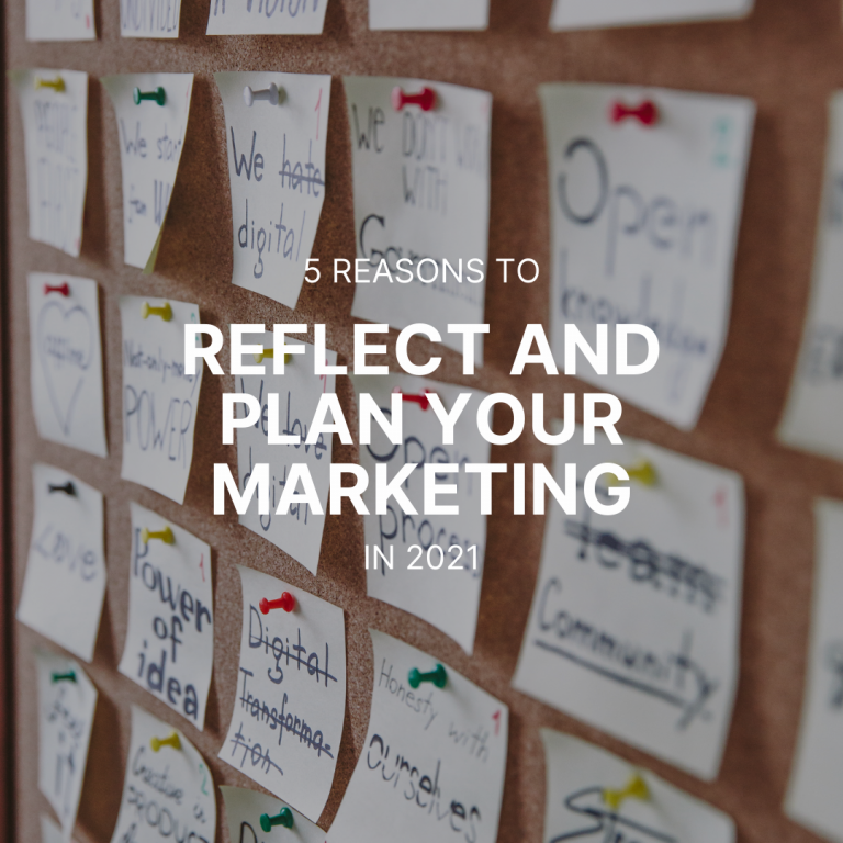 5 Reasons to Reflect and Plan Your Marketing for 2021
