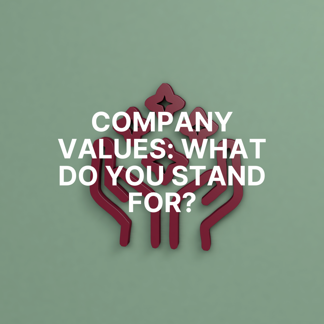 Company Values: what do you stand for?